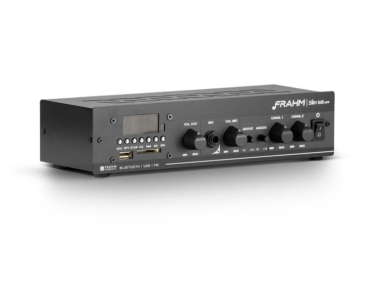 Kit para som ambiente com 1 amplificador + 6 arandelas | Natts, Frahm | SLIM 1600 APP - AR6C