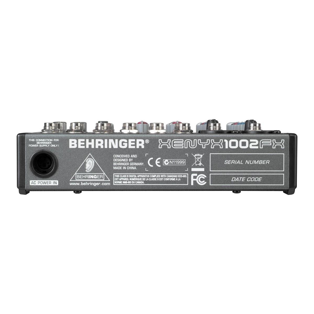 Mesa 10 entradas, AUX, FX e 48v Behringer Xenix 1002FX