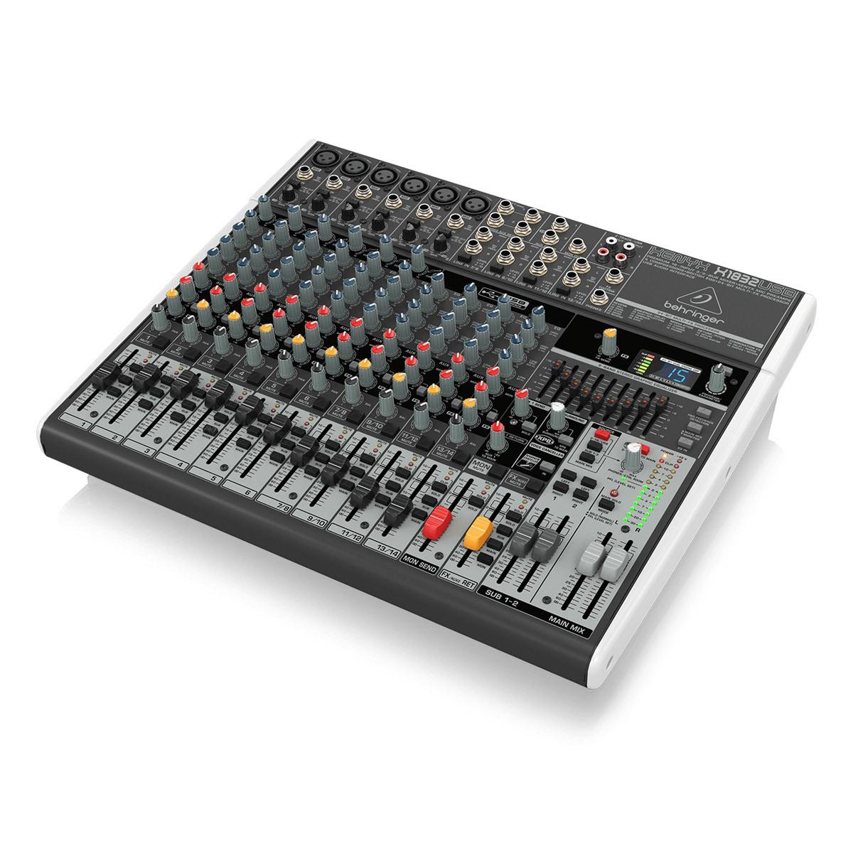 Mesa 6 entradas XLR, 4 Estéreo, FX e USB Behringer X1832USB
