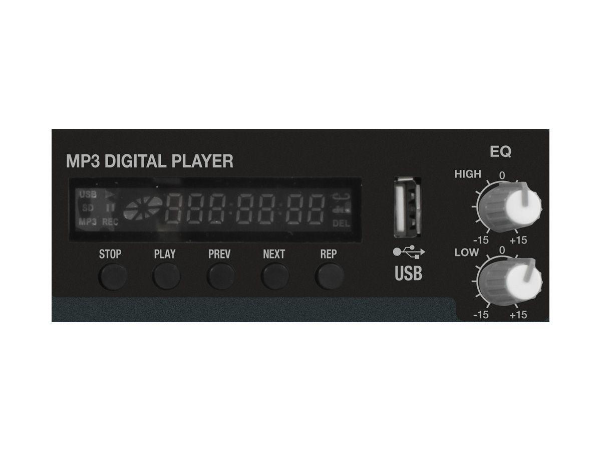 Mesa amplificada, 10 canais e 300W RMS 4 ohms | Leitor USB e Bluetooth | Novik Neo | NVK-1200P USB