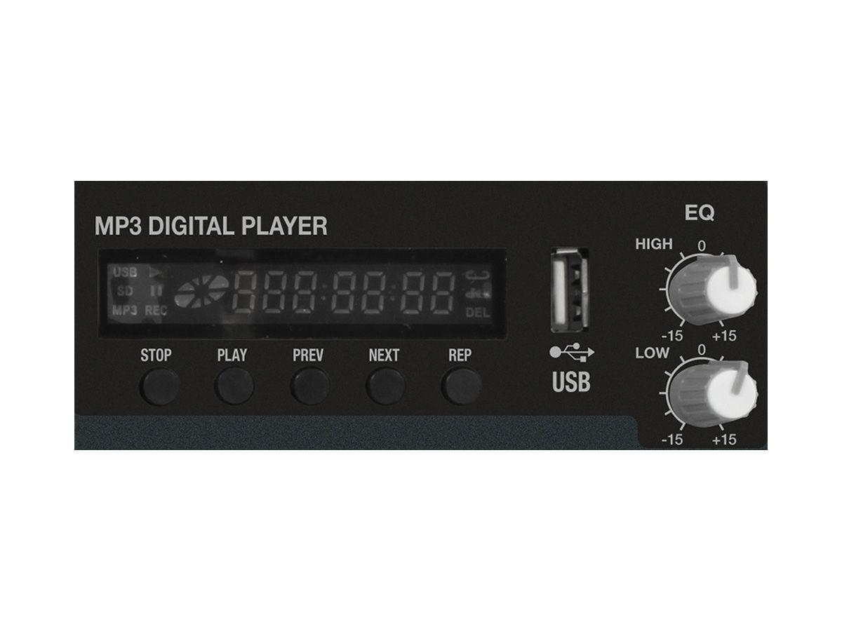 Mesa amplificada 6 canais e 300W RMS em 4 ohms | USB e Bluetooth | Novik Neo | NVK-800P USB