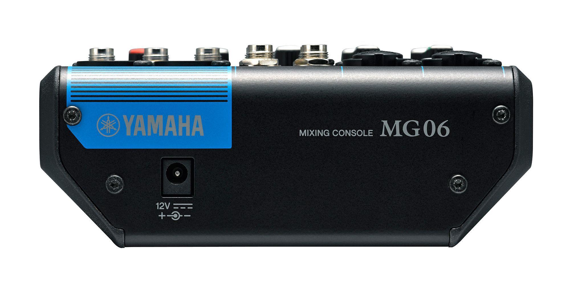Mesa de som com 6 entradas e 1 saida Yamaha MG06