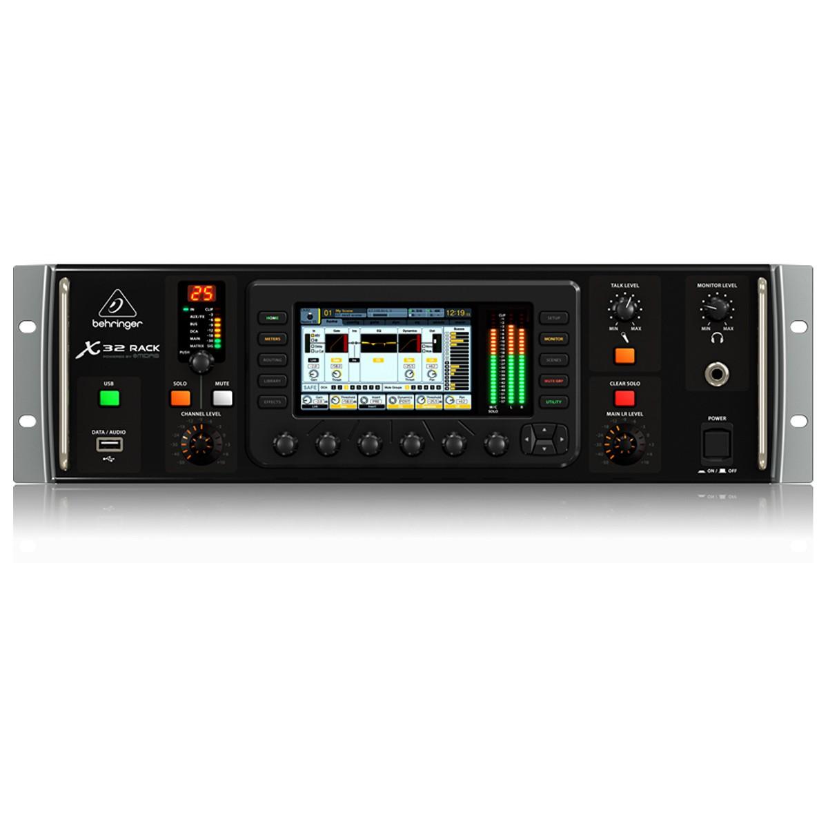 Mesa digital 16 pré-amplis, 8 saídas e USB Behringer X32 RACK