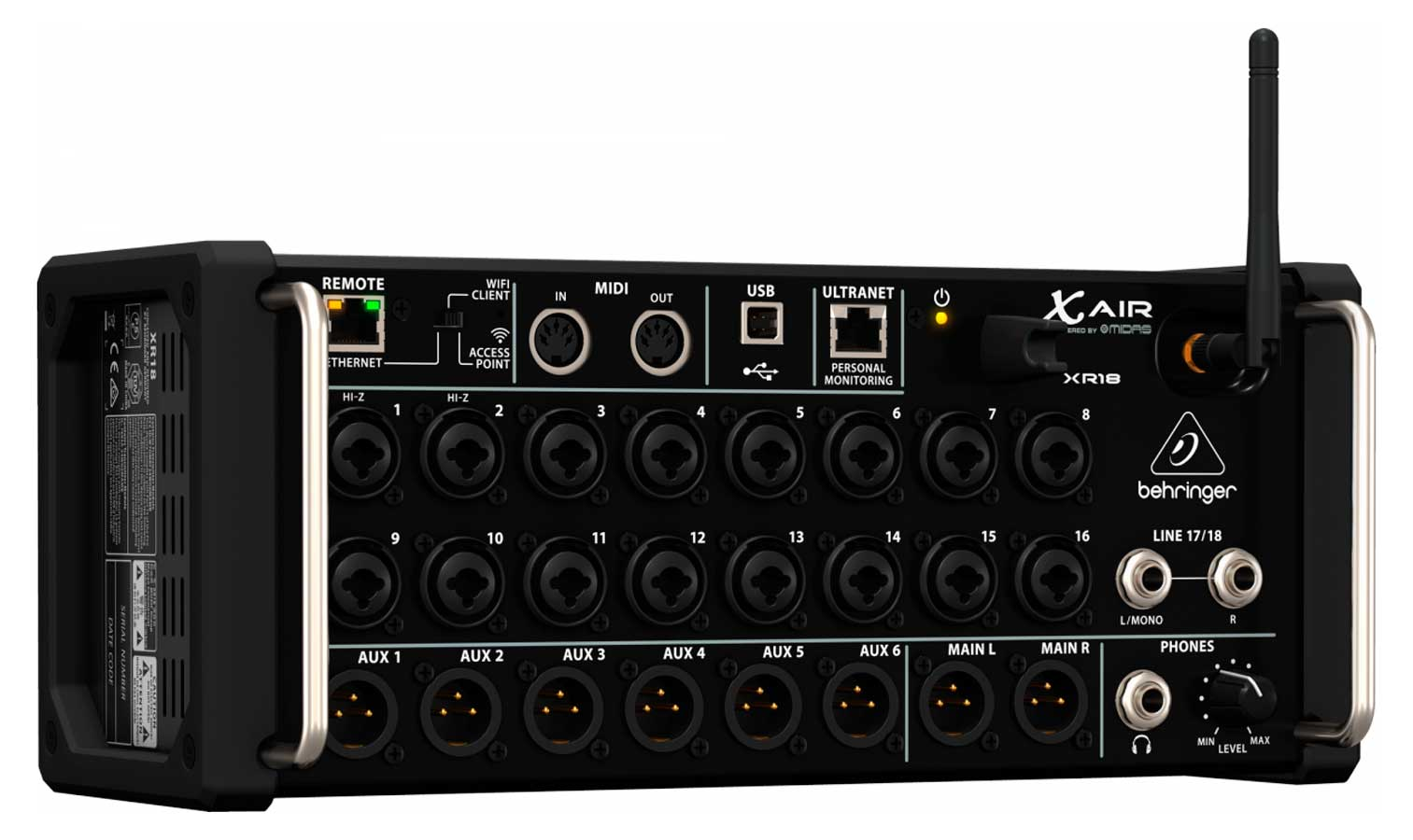 Mesa digital 18 canais 6 AUX - Tablet - Smartphone Behringer XR18