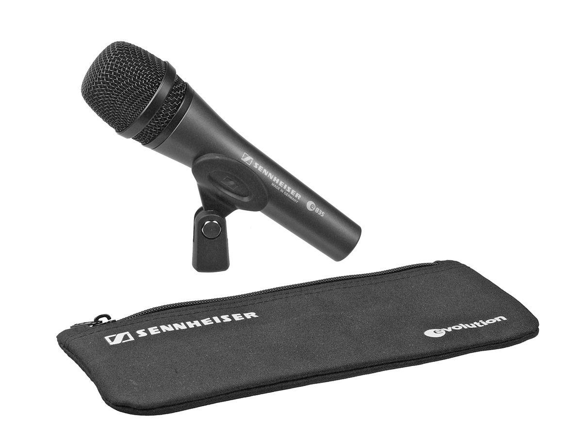 Microfone cardioide dinâmico desenhado para oratória e vocais com corpo de metal | Sennheiser | E835