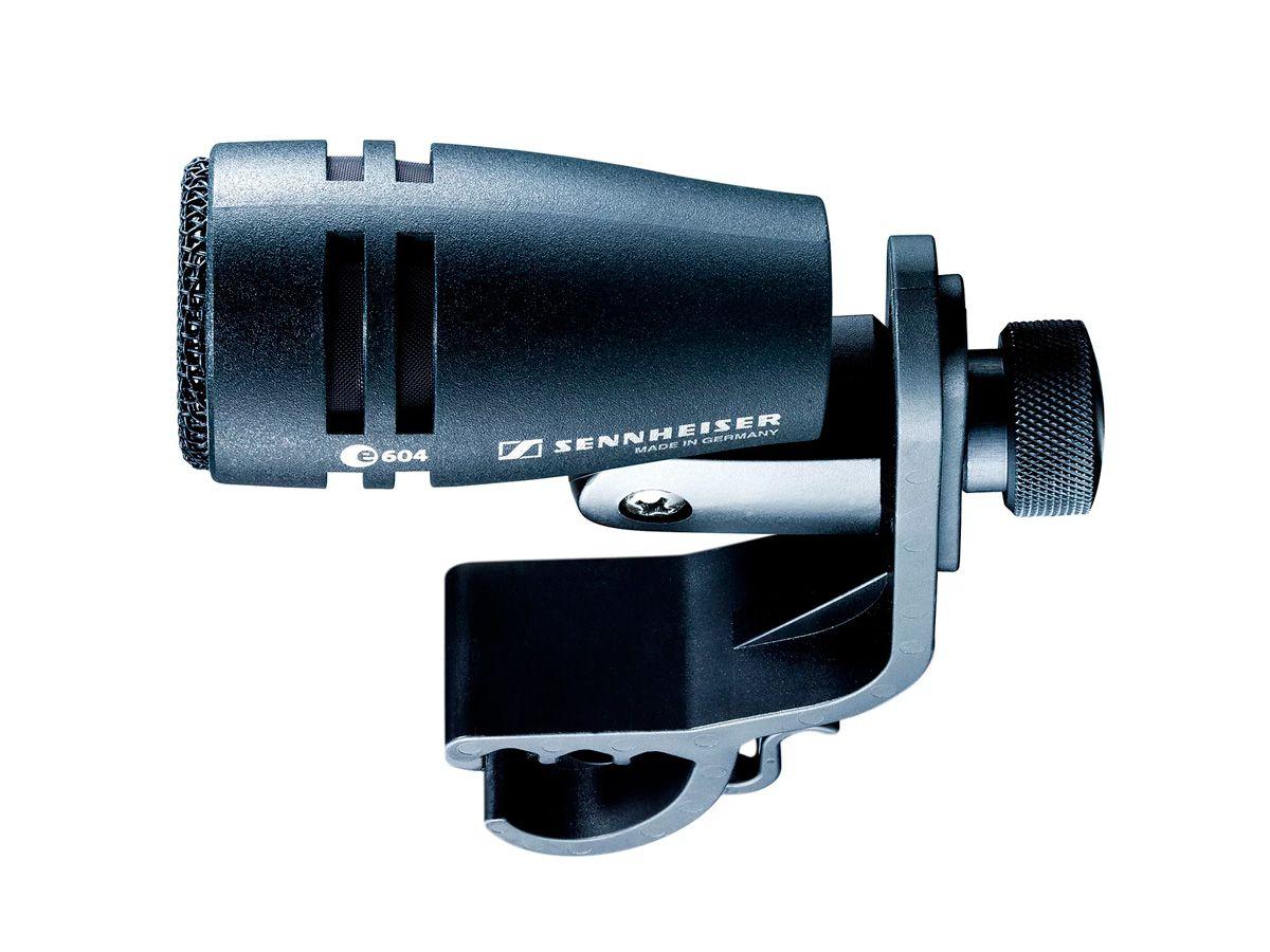 Microfone cardioide dinâmico e compacto para instrumentos de percussão | Sennheiser | e 604