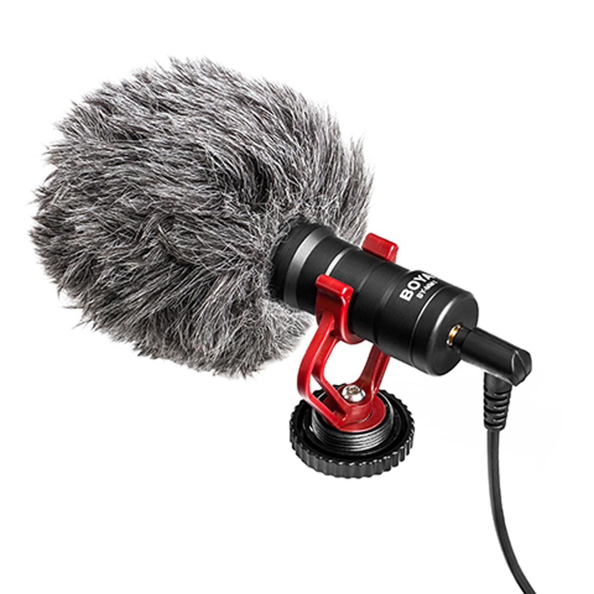 Microfone compacto Cardioide para Câmera Boya BY-MM1