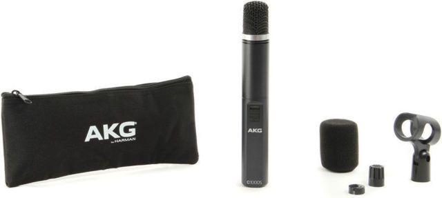 Microfone condensador, capsula Cardioide ou Hipercardioide, Bateria ou Phantom | AKG | C1000 S