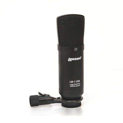 Microfone condensador profissional USB PC Lexsen LM-1 USB
