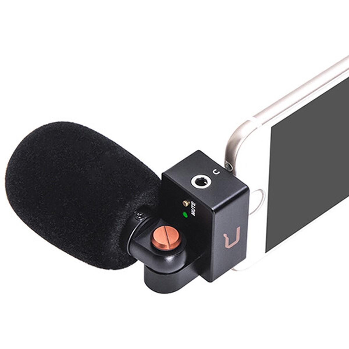 Microfone de encaixe p/ Iphone Lightning Comica CVMVS09MI