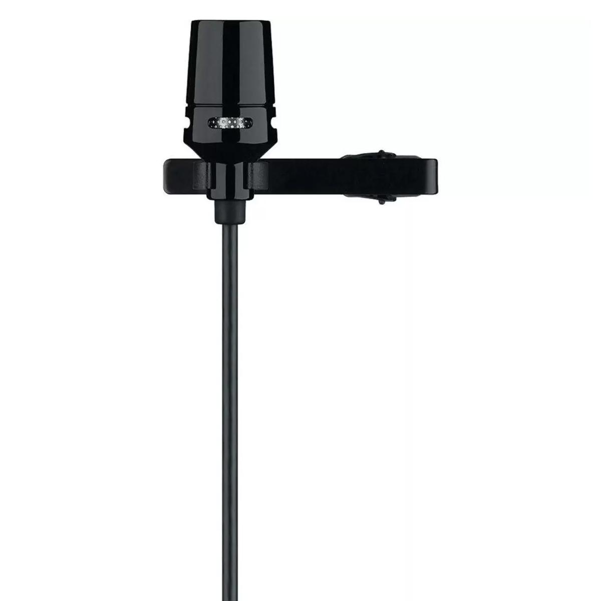 Microfone de lapela cardioide SHURE - CVL-B/C-TQG