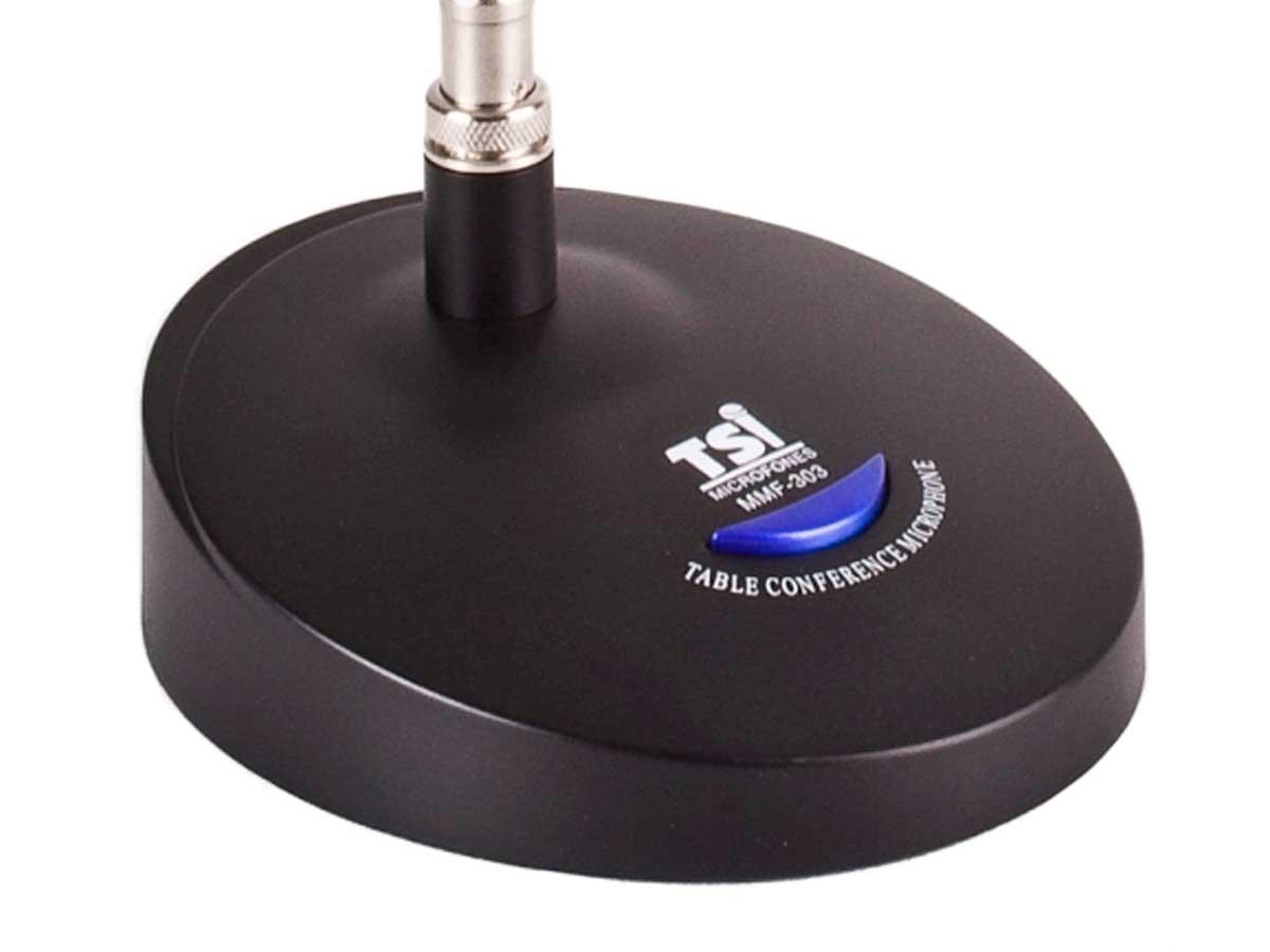Microfone de mesa gooseneck de 63 cm | Phantom Power ou pilhas | TSI | MMF303