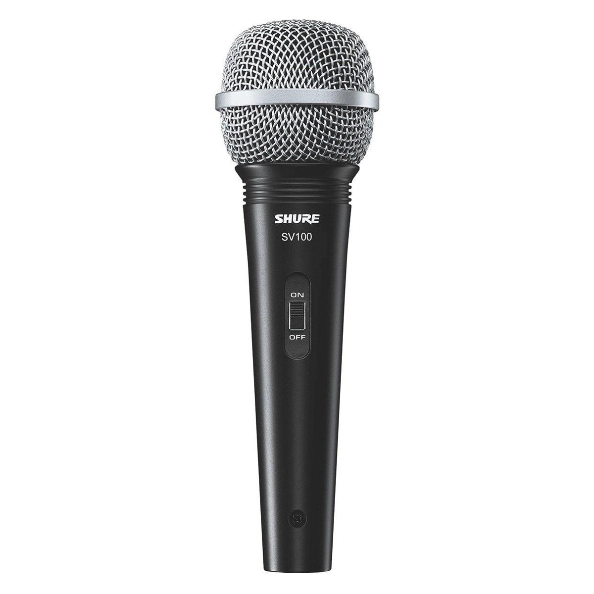 Microfone dinâmico de mão Vocal com on/off Shure SV100
