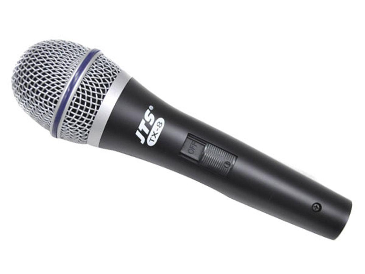 Microfone Dinâmico Para Voz Com Chave On/off + Cabo e maleta | JTS | TX-8