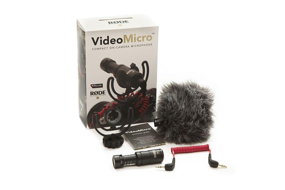Microfone direcional compacto para câmera de conexão P2 TRS | Rode | VideoMicro