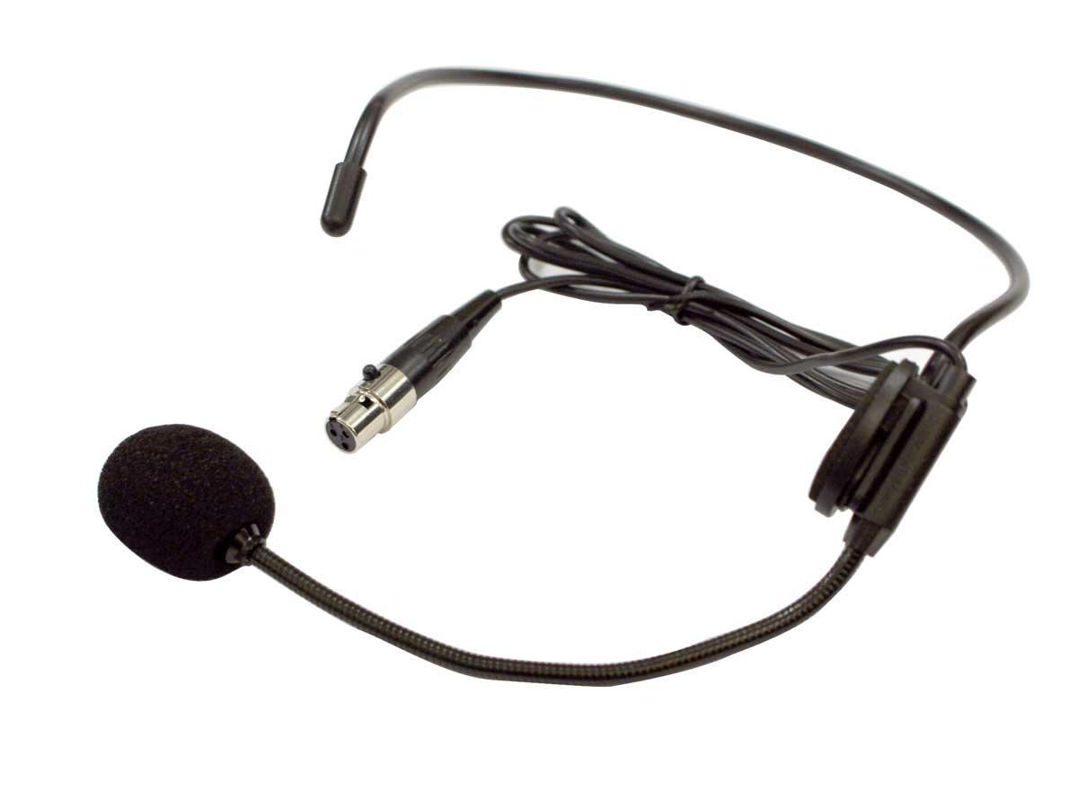 Microfone Headset preto para microfone sem fio mini XLR 3 pinos | JWL | IB-01