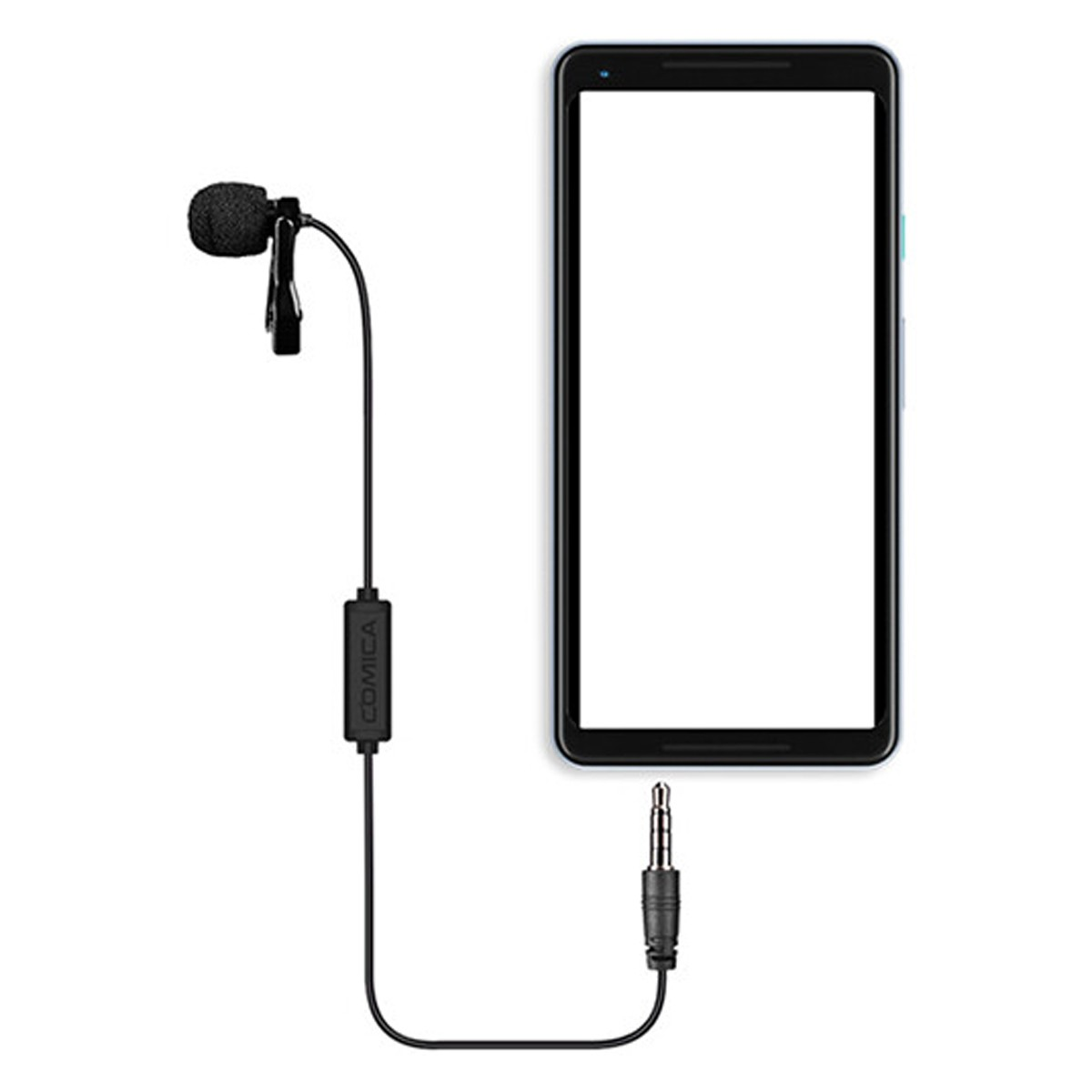 Microfone lapela p/ Smartphone P2 TRRS Comica V01SP (2.5M)