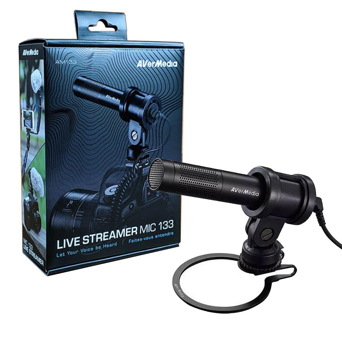 Microfone p/ Celular, PC e DSLR AverMedia MIC133