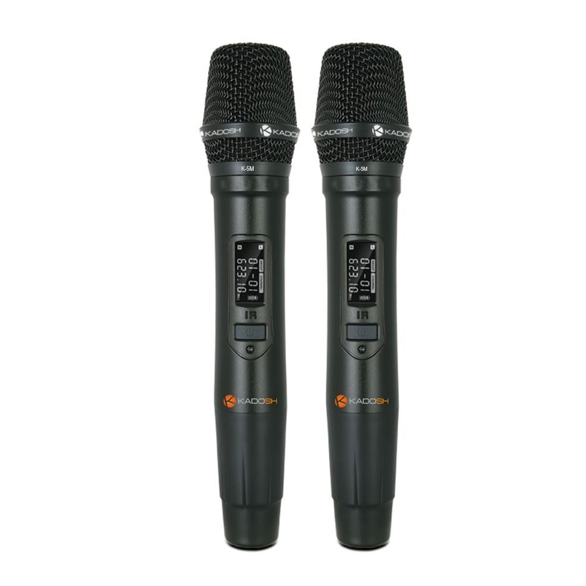 Microfone sem fio Duplo Kadosh K502M 2 microfones mão