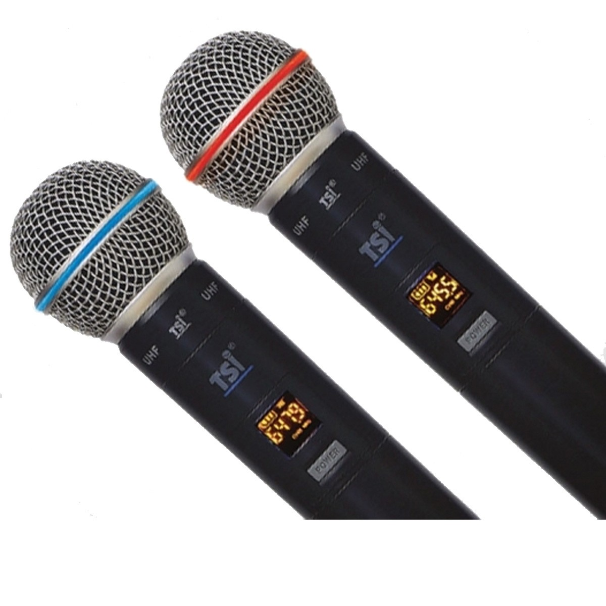 Microfone sem fio Duplo Mão UHF  96 canais TSI 1200UHF