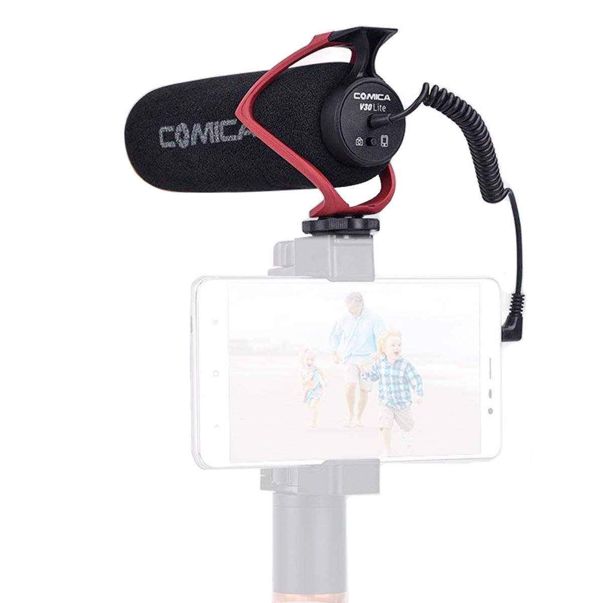 Microfone Shotgun Câmera ou Smartphone Comica CVMV30LITER