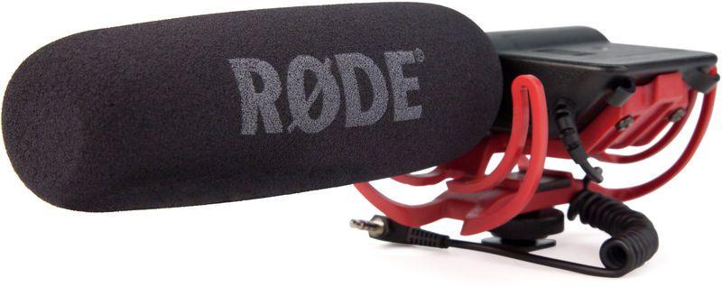 Microfone shotgun condensador profissional para câmeras de vídeo e gravadores com suspensão Rycote | RODE | VideoMic