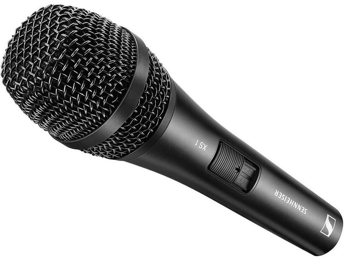 Microfone vocal cardioide dinâmico com corpo de metal e chave on-off ideal para performance ao vivo | Sennheiser | XS 1