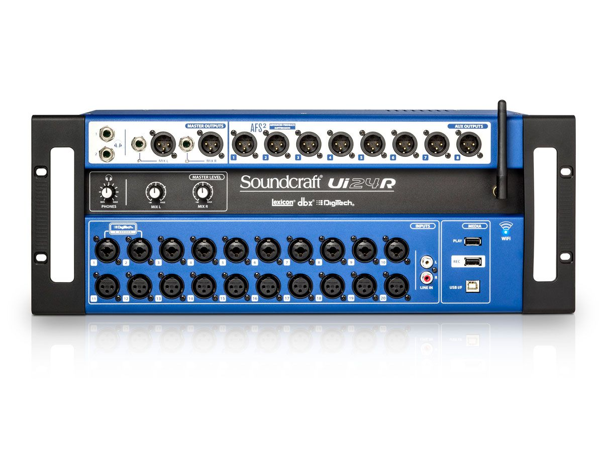 Mesa digital - 24 canais, Wi-Fi e Interface USB Soundcraft UI24R