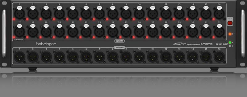 Mixer Digital de 48 Canais Wing e Stagebox S32 - Behringer