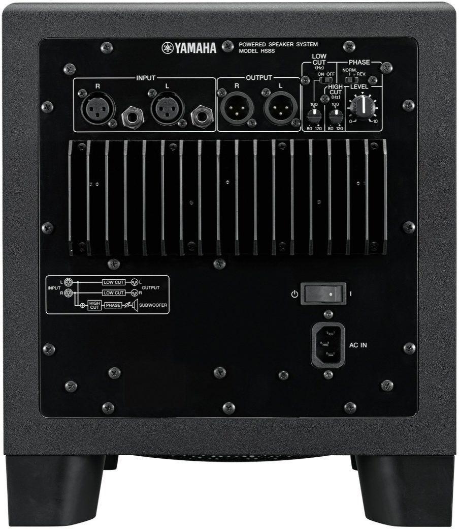 Monitor De Referência Yamaha Hs8s Subwoofer Ativo Hs8 Sub