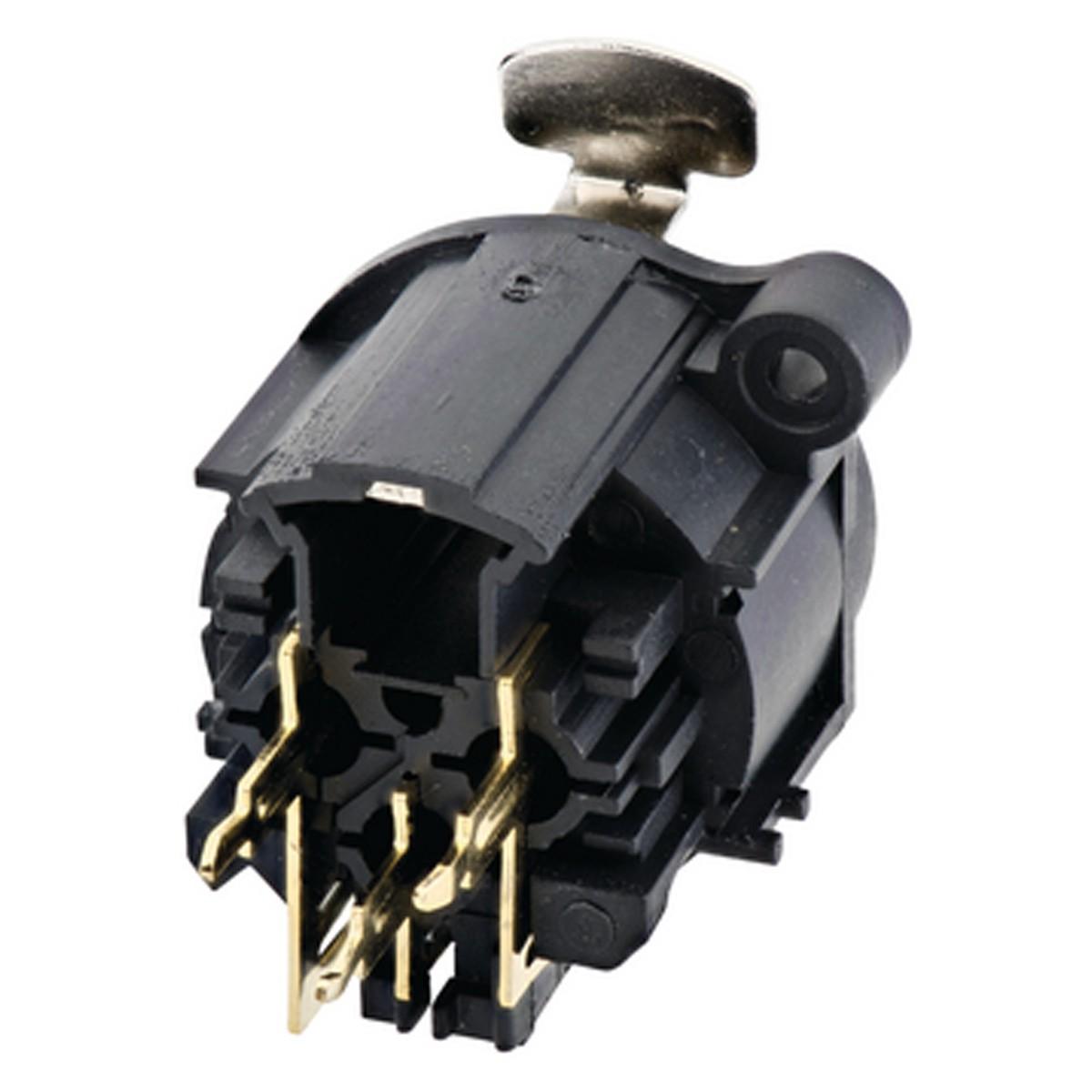 Pacote com 6 conectores xlr femea de painel Amphenol - AC3FAV-au-b