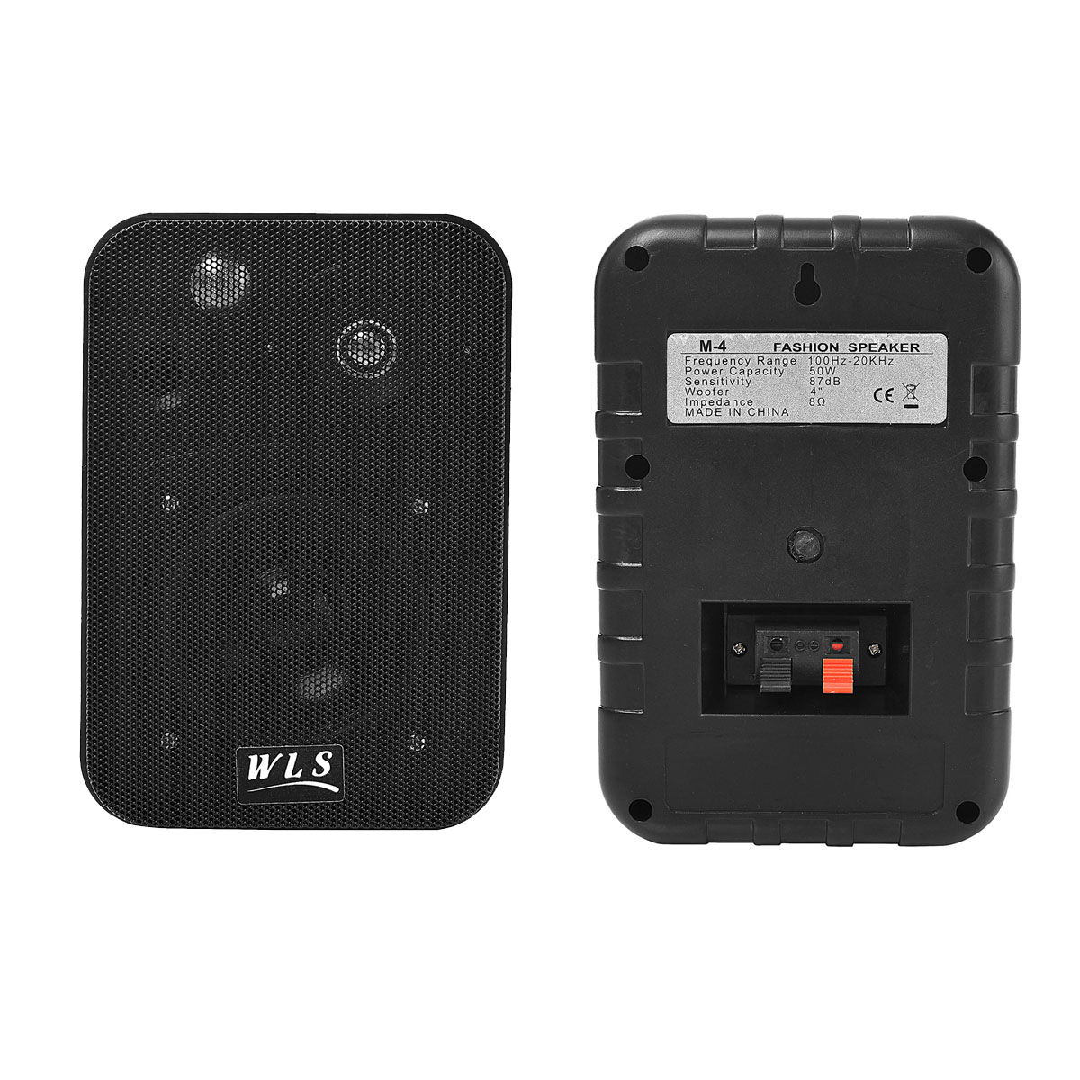 Par de Caixas para Som Ambiente WLS M4 Preta 50W