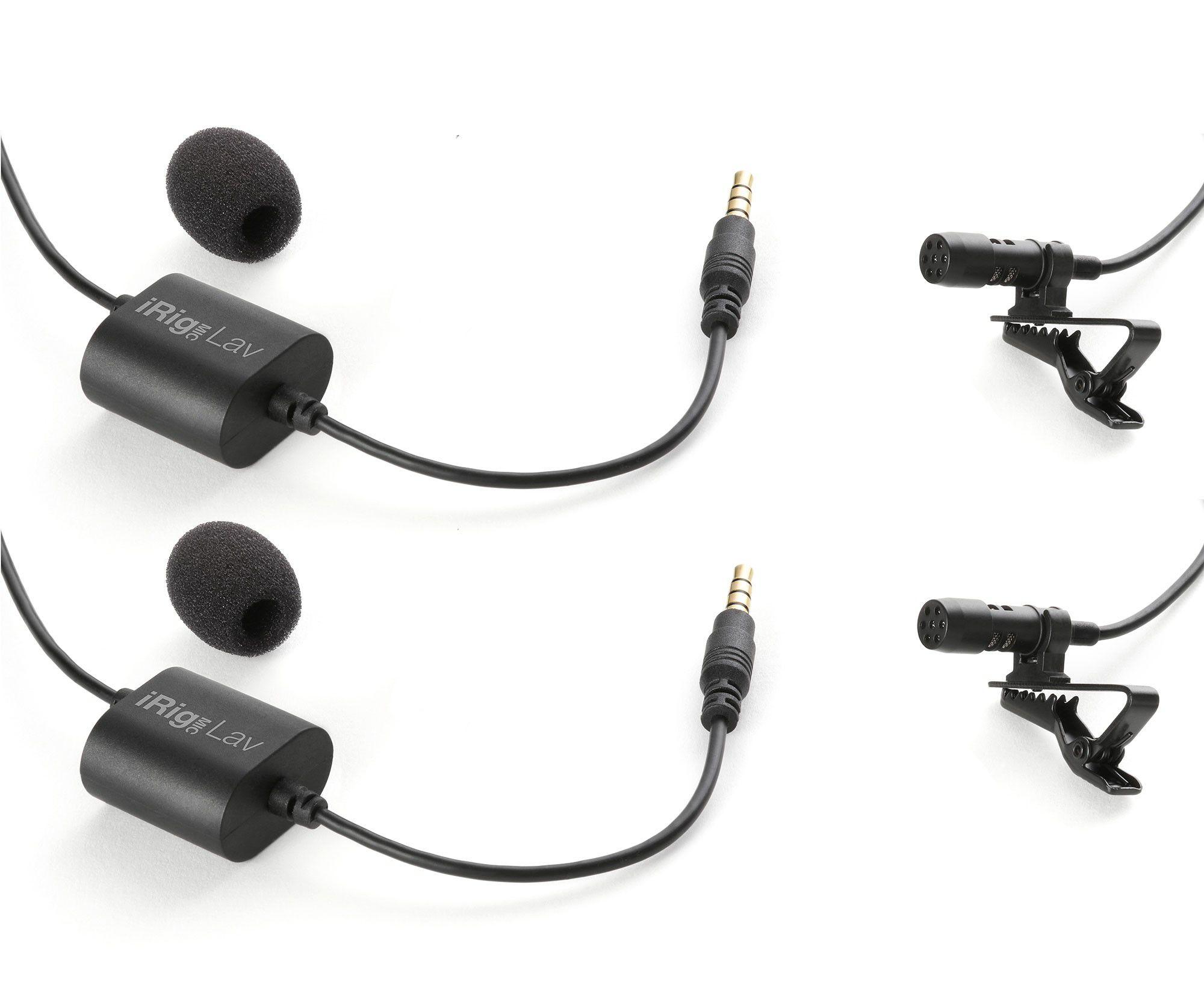 Par de microfones de lapela para Smartphone ou Tablet | IK Multimedia | iRig Mic Lav 2 Pack