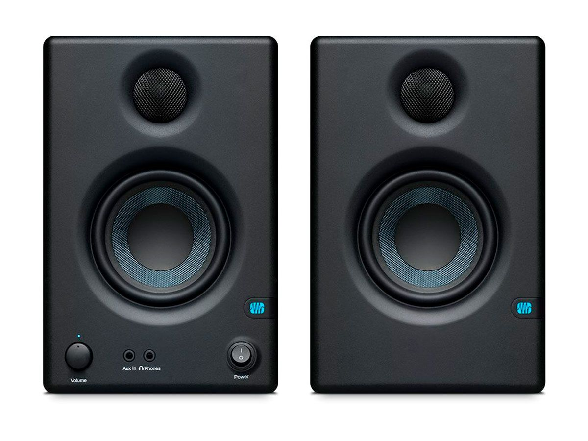 Par de Monitores 2 vias com Alto-falante de 3,5 polegadas e Driver de 1 polegada com 25 Watts RMS | Presonus | Eris E3.5