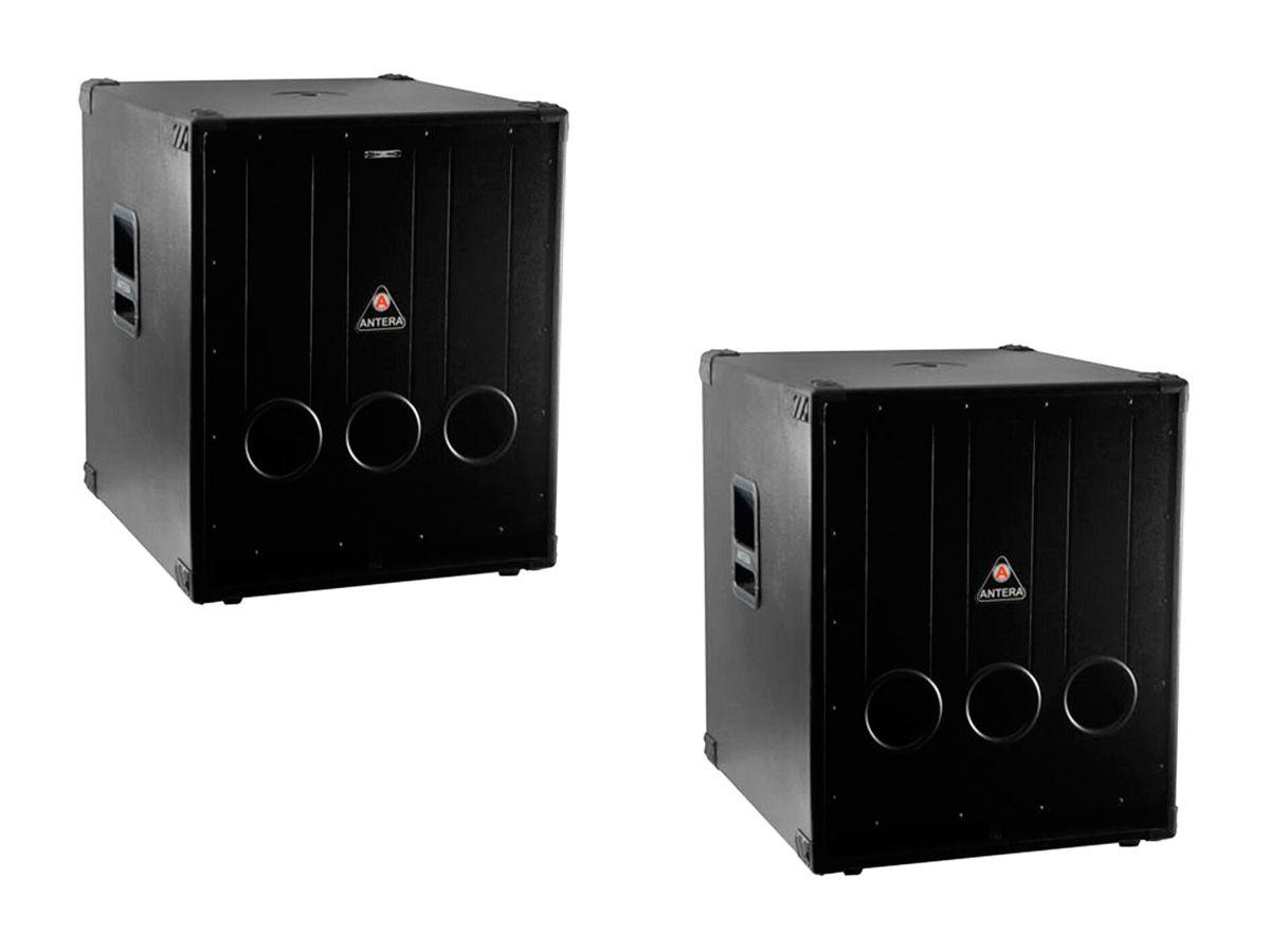 Par de Sub Grave, ativo + passivo de 18 polegadas e gabinete de madeira | Antera | LF18.1 / LF18.1A