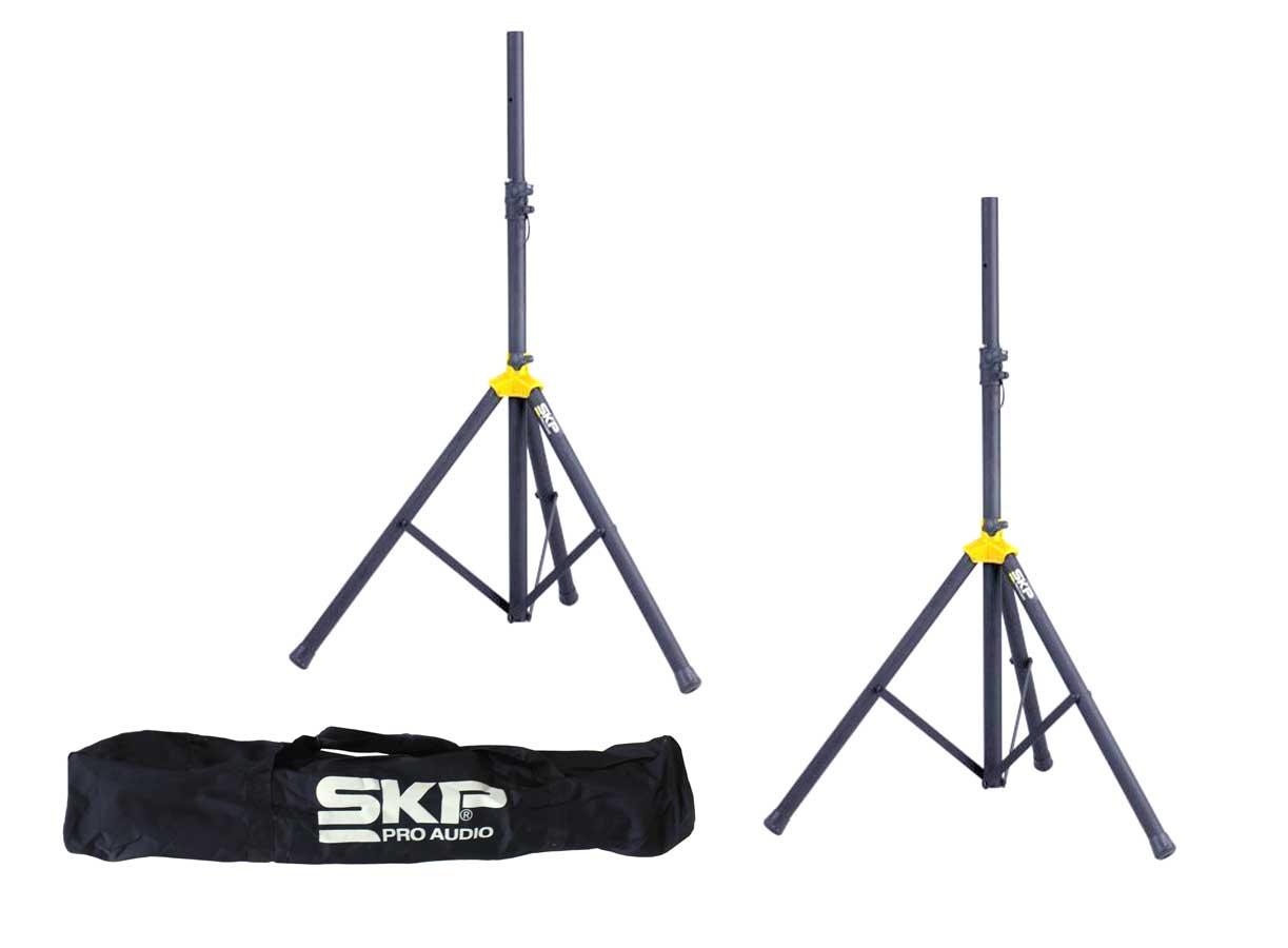 Par de tripés para caixa acústica + bag para transporte | 110cm a 187cm | SKP Pro Audio | STD-4S