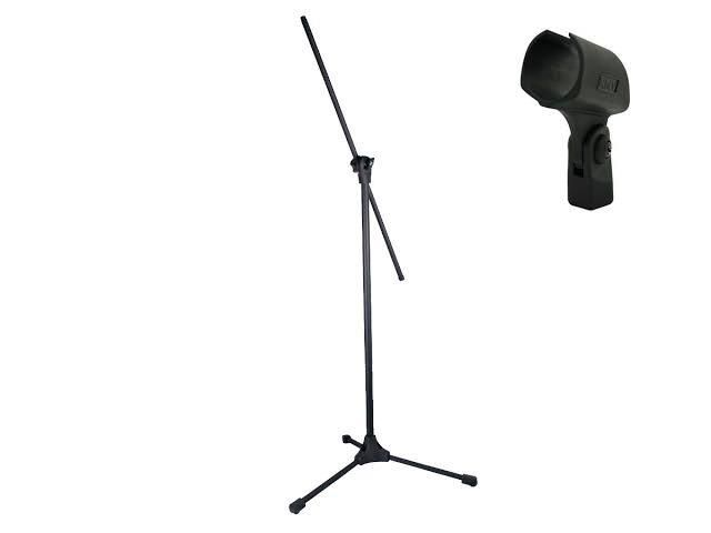 Pedestal Aço Microfone Alt Max 1.80m + Cachimbo Rmv Std0145