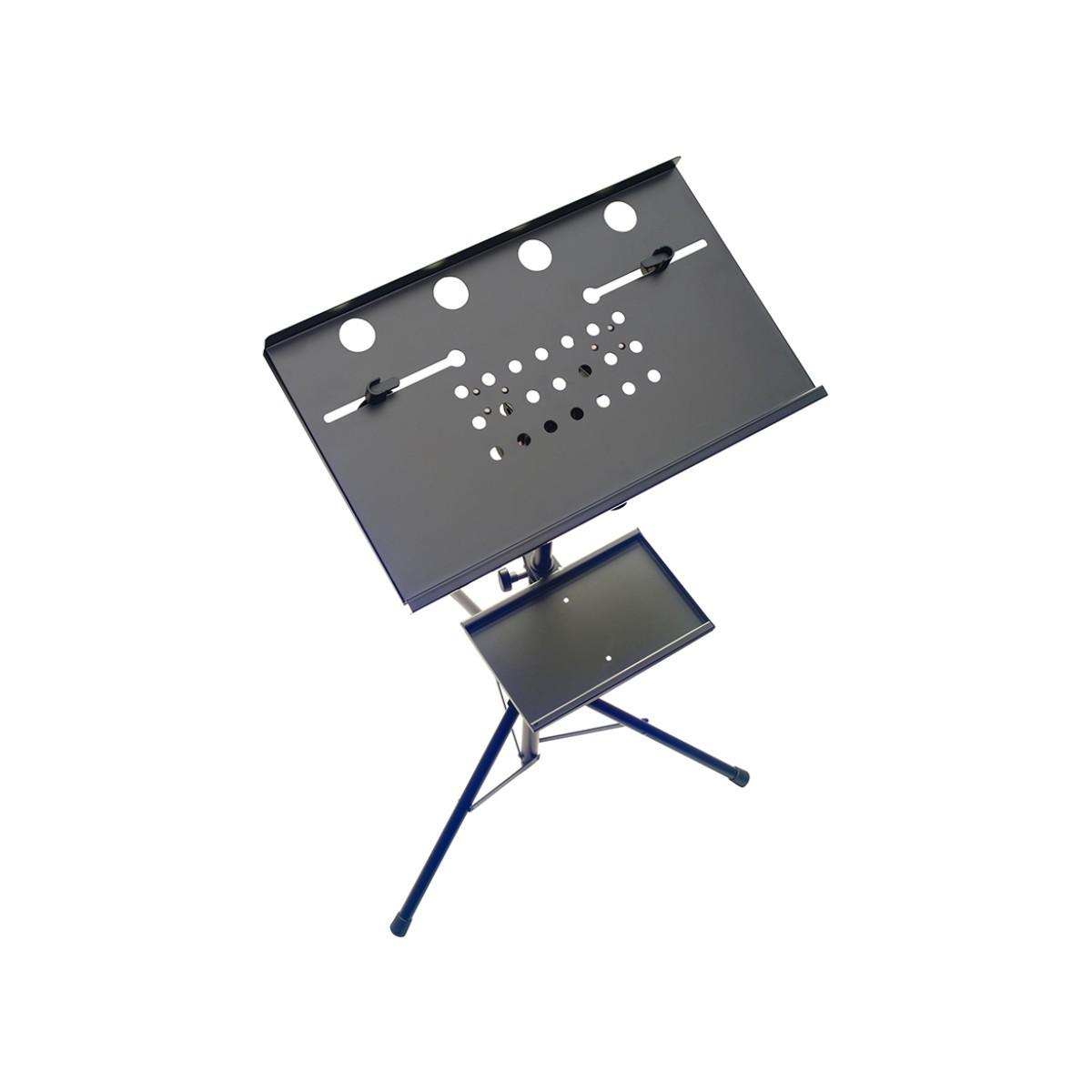 Pedestal com 2 bandejas para Notebook Stagg COS 10 BK