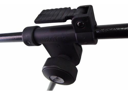 Pedestal Microfone + Cachimbo 2,10m Vector PMV01PSHT