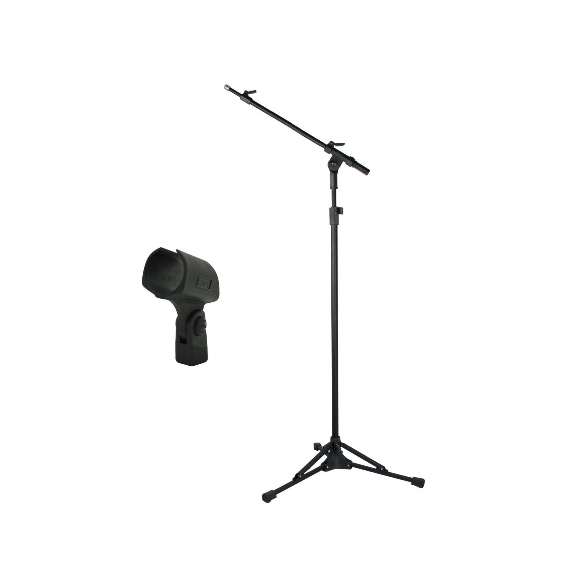 Pedestal Para Microfone + Cachimbo 100 - 155cm  Rmv PSU0090