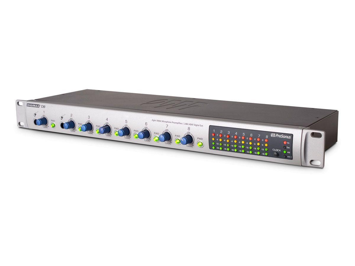 Pré-amplificador 8 canais ADAT 48 kHz Presonus DigiMax D8