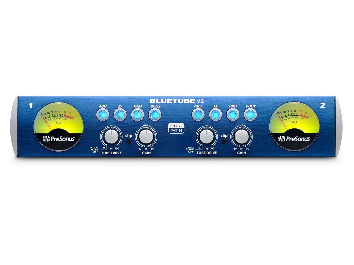 Pré-amplificador valvulado profissional Classe A XMAX com 2 entrada para microfone / instrumento | Presonus | BlueTube DP v2