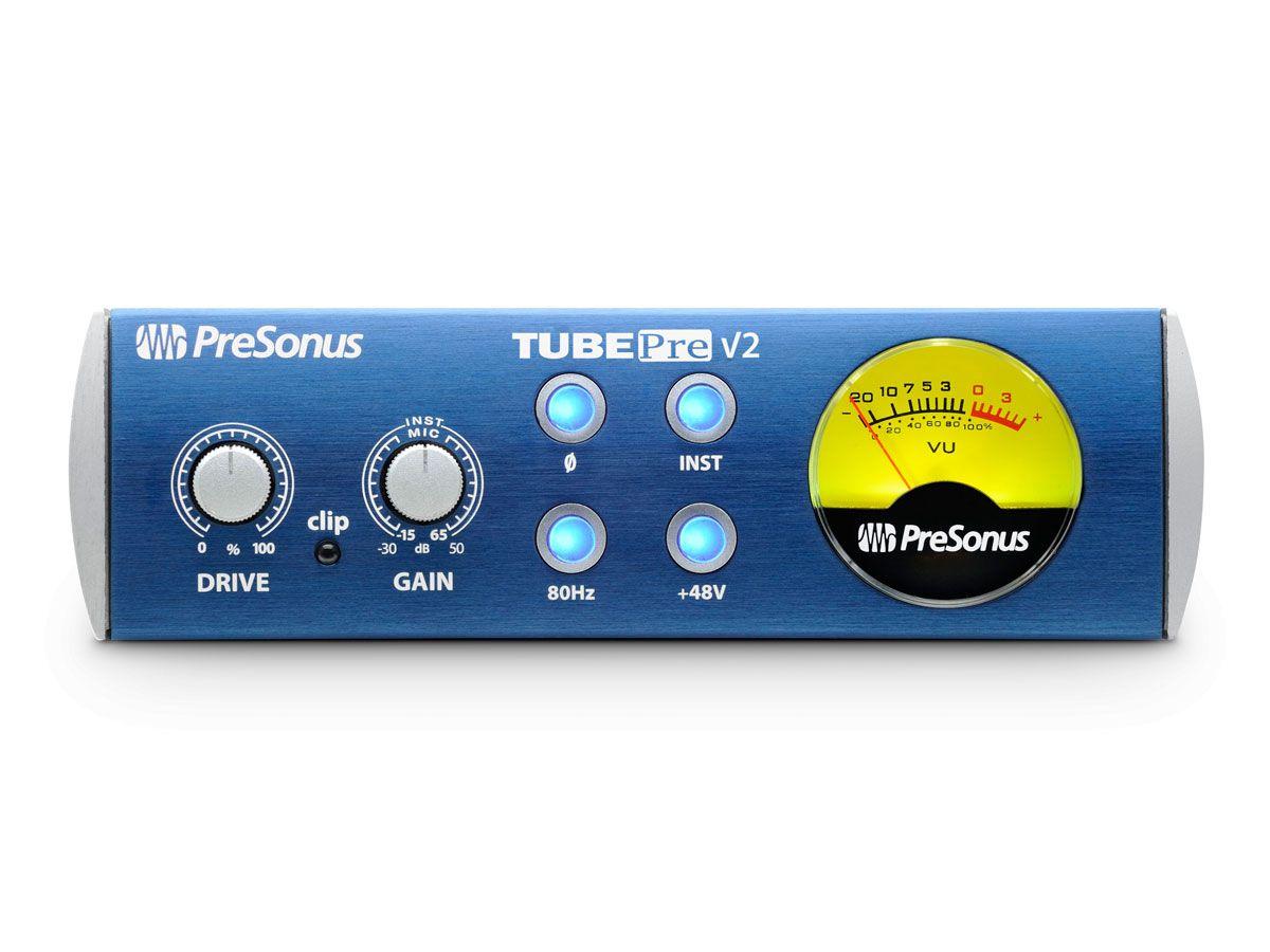 Pré-amplificador valvulado profissional Classe A XMAX de 1 entrada para microfone / instrumento | Presonus | TubePre V2