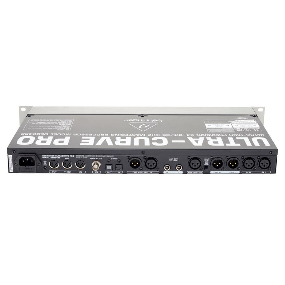Processador EQ RTA P.A Masterização Behringer DEQ2496