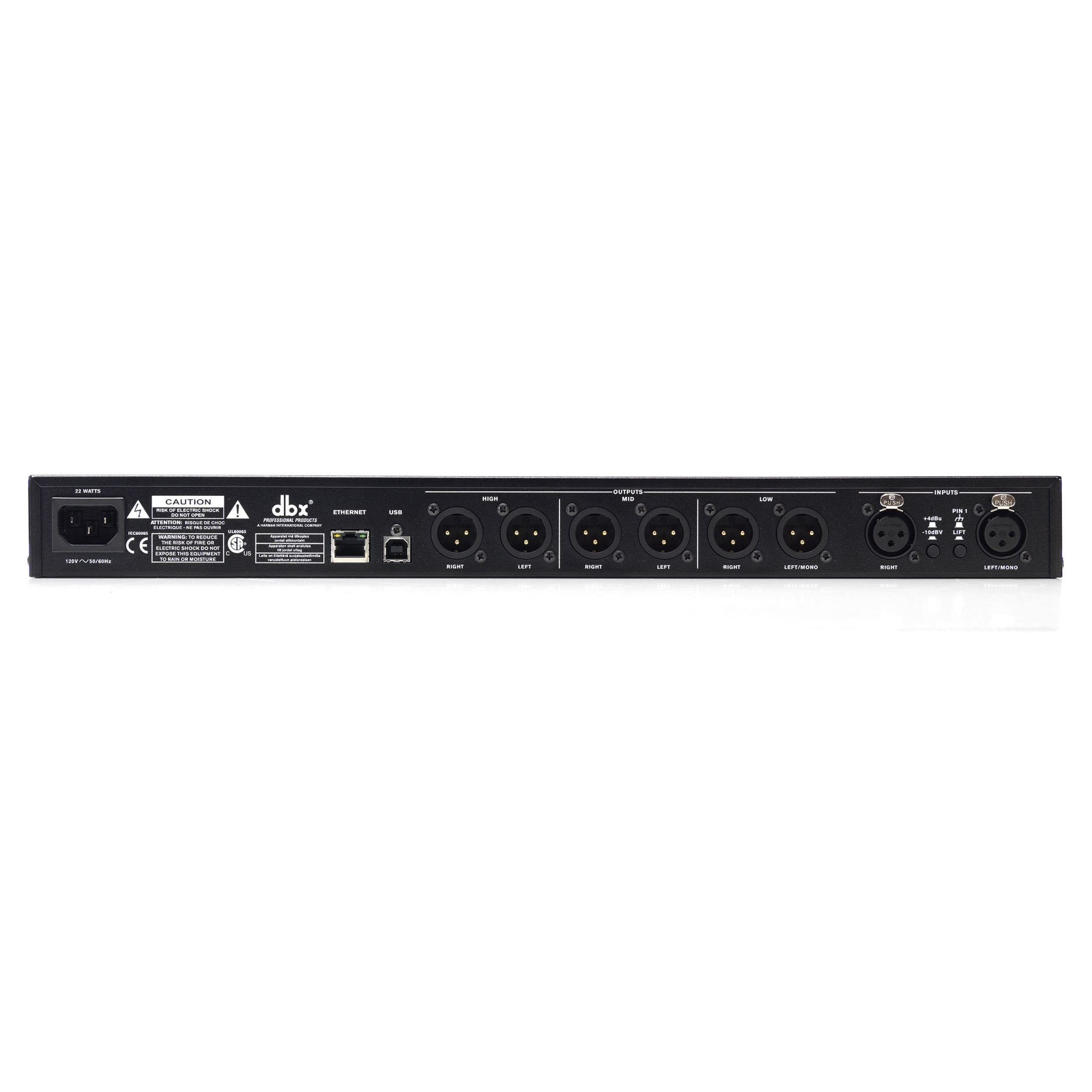 Processador para sistema de áudio 110v | EQs, Crossover, Delay e outros | DBX | DriveRack PA2