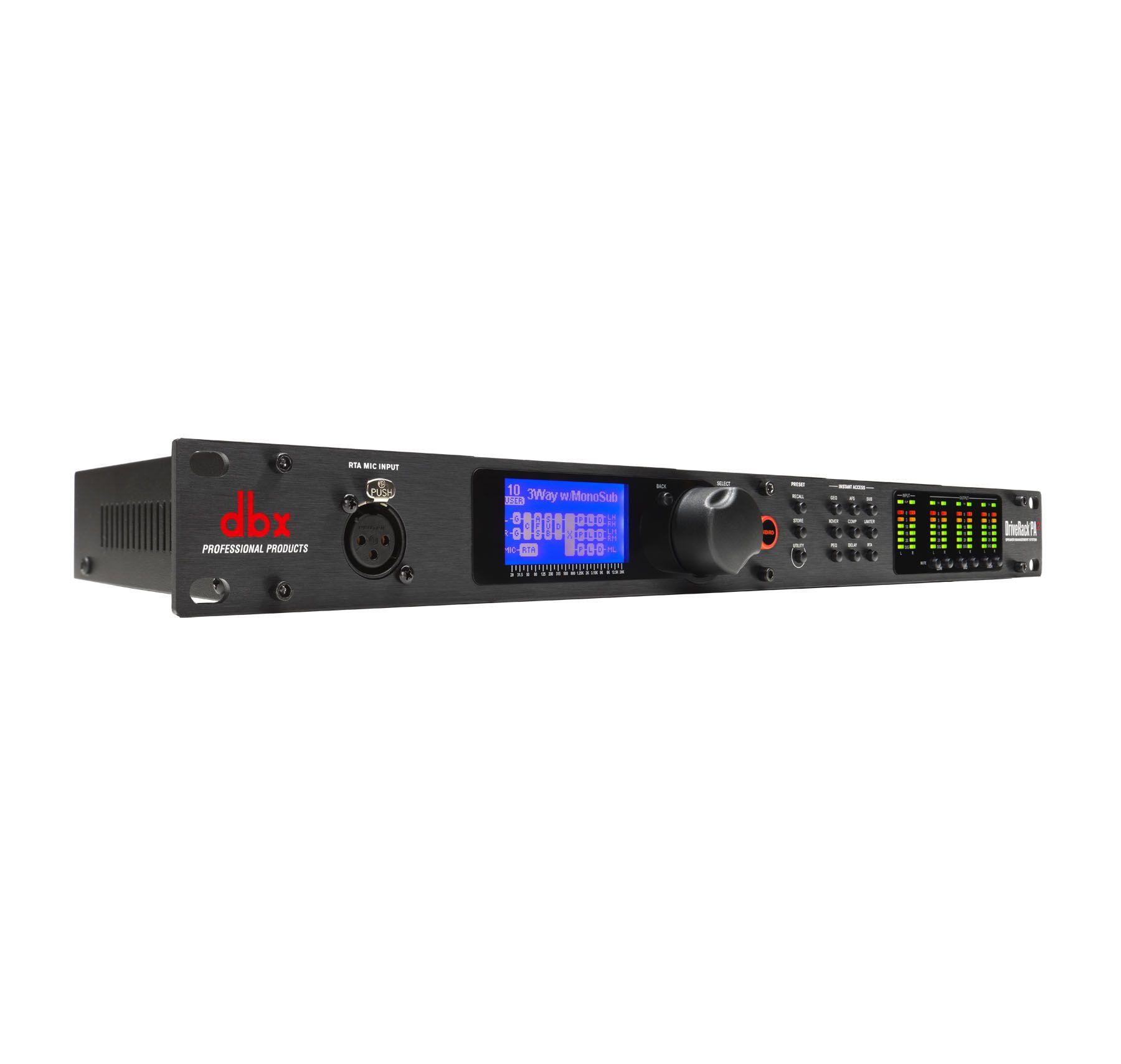 Processador para sistema de áudio em 220v   EQs, Crossover, Delay e outros   DBX   DriveRack PA2