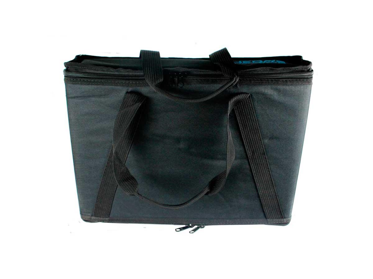 Bag Case  2U, barra dupla de alumínio, revestido com espuma e nylon preto | Solid Sound | BAG2UTPT
