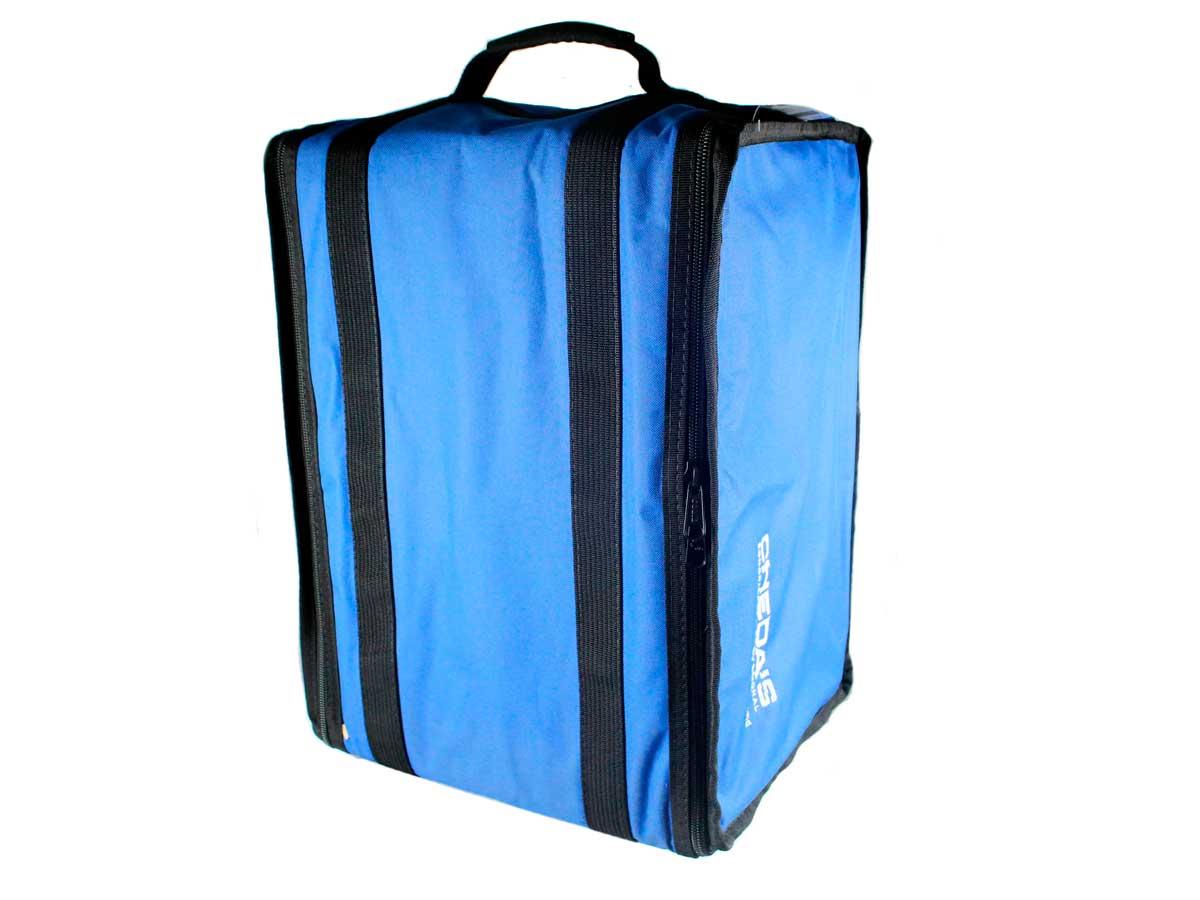 Bag Case 6U, barra dupla de alumínio, revestido com espuma e nylon azul | Solid Sound | BAG6UTAZ