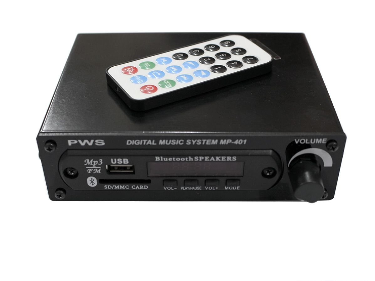 MP3 Player, Bluetooth e Radio FM PWS MP-401