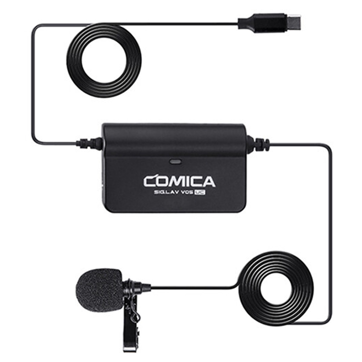 Microfone lapela para Smartphone USB-C Comica SIGLAVV05UC